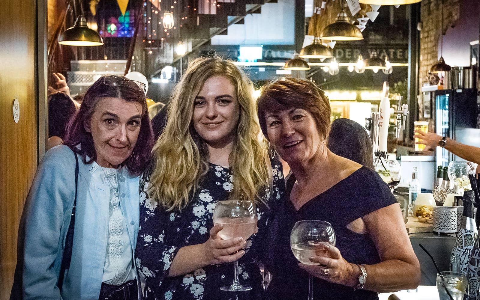 Sandra Innocent, Rebecca Dobson and Lynn Shervin