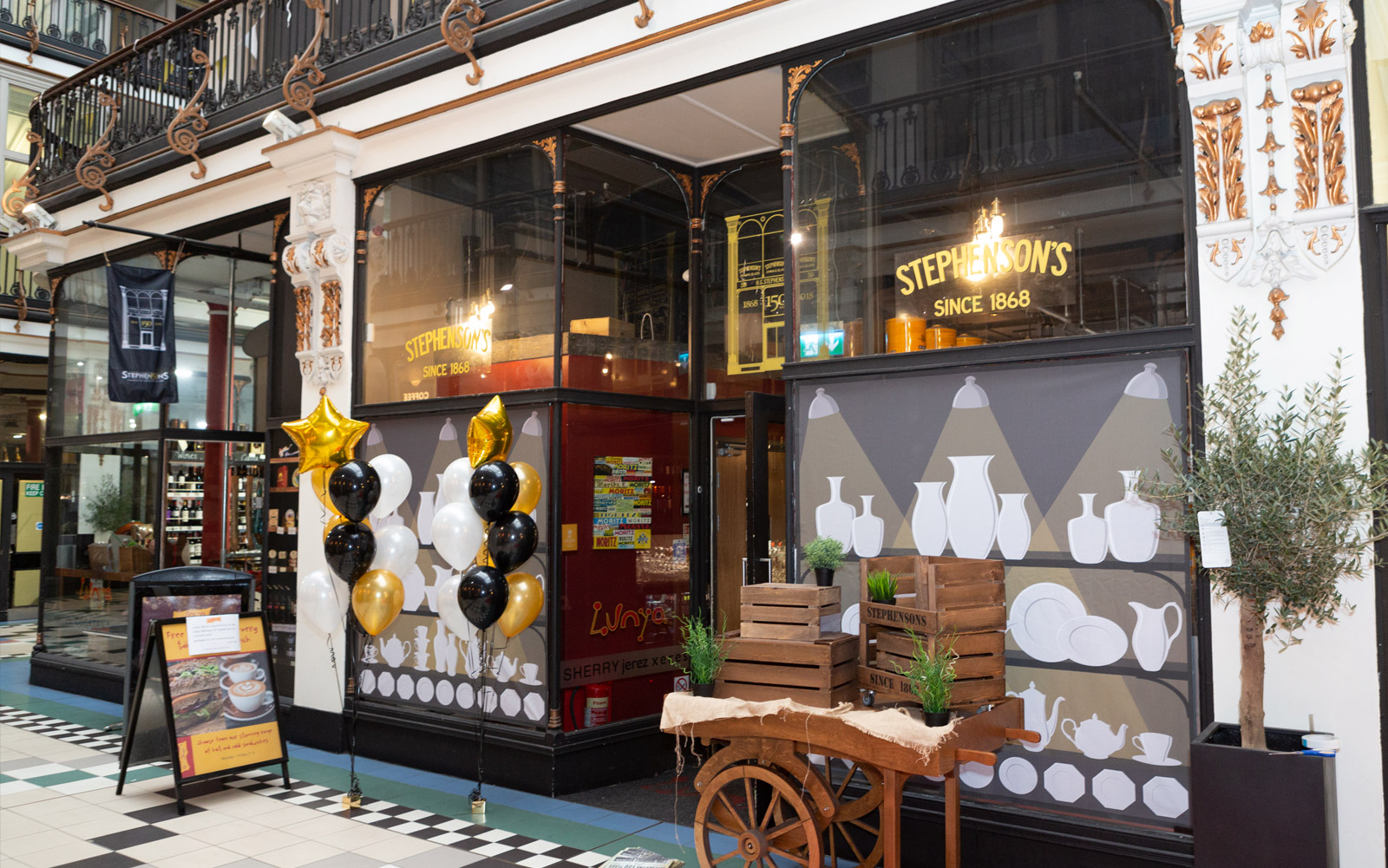 Lunya Manchester was dressed up with graphics and window displays inspired by the shops original tenants